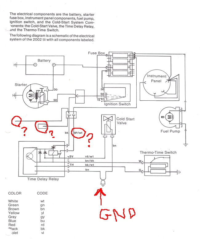 Tii Cold Start Wiring Harness Question