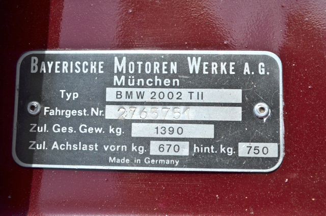 Vin Plate Bmw 2002 And Other 02 Bmw 2002 Faq