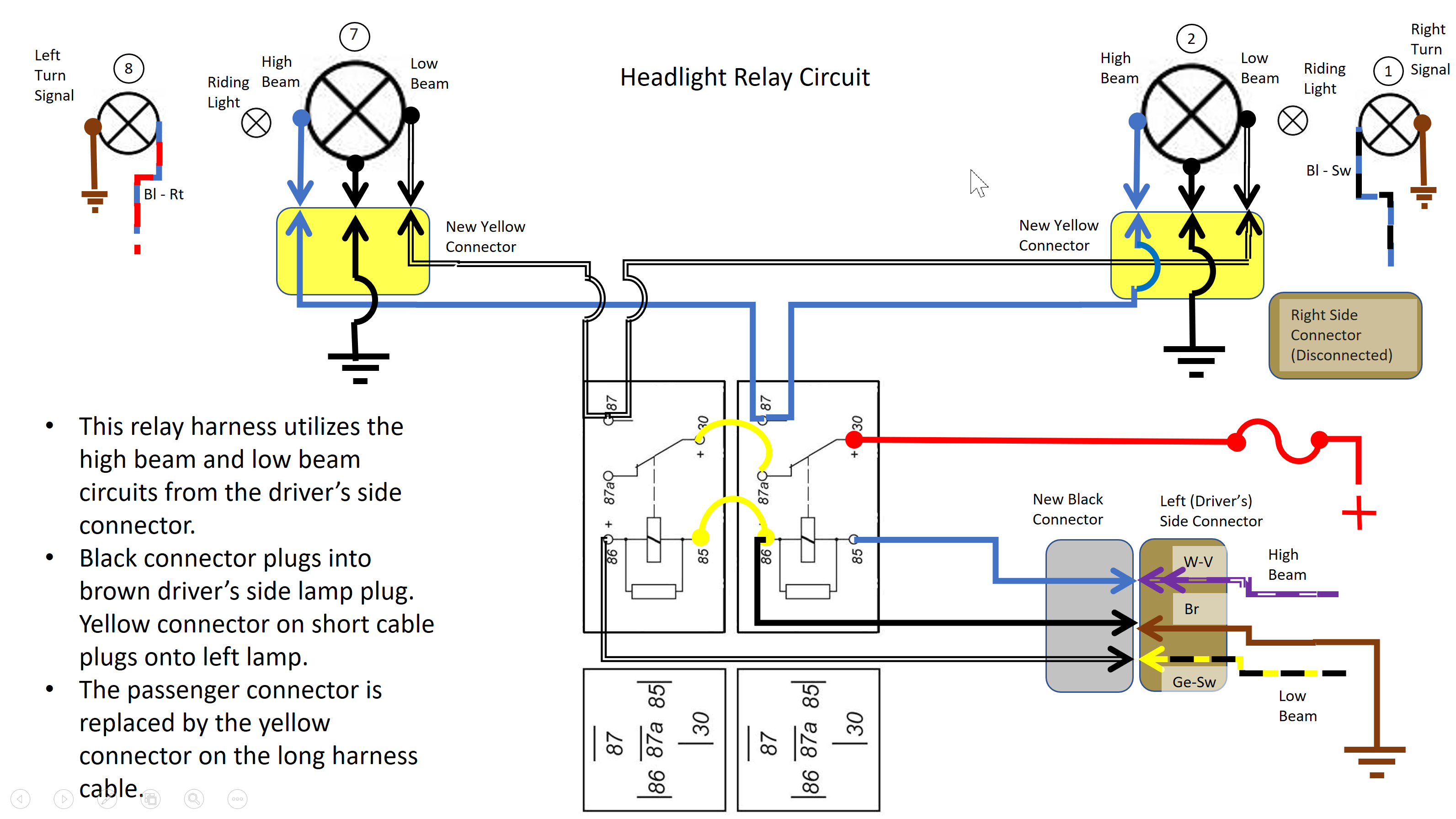 H4 Headlight Relay Wiring Diagram 2. 1993 Dodge Pick Up ... on