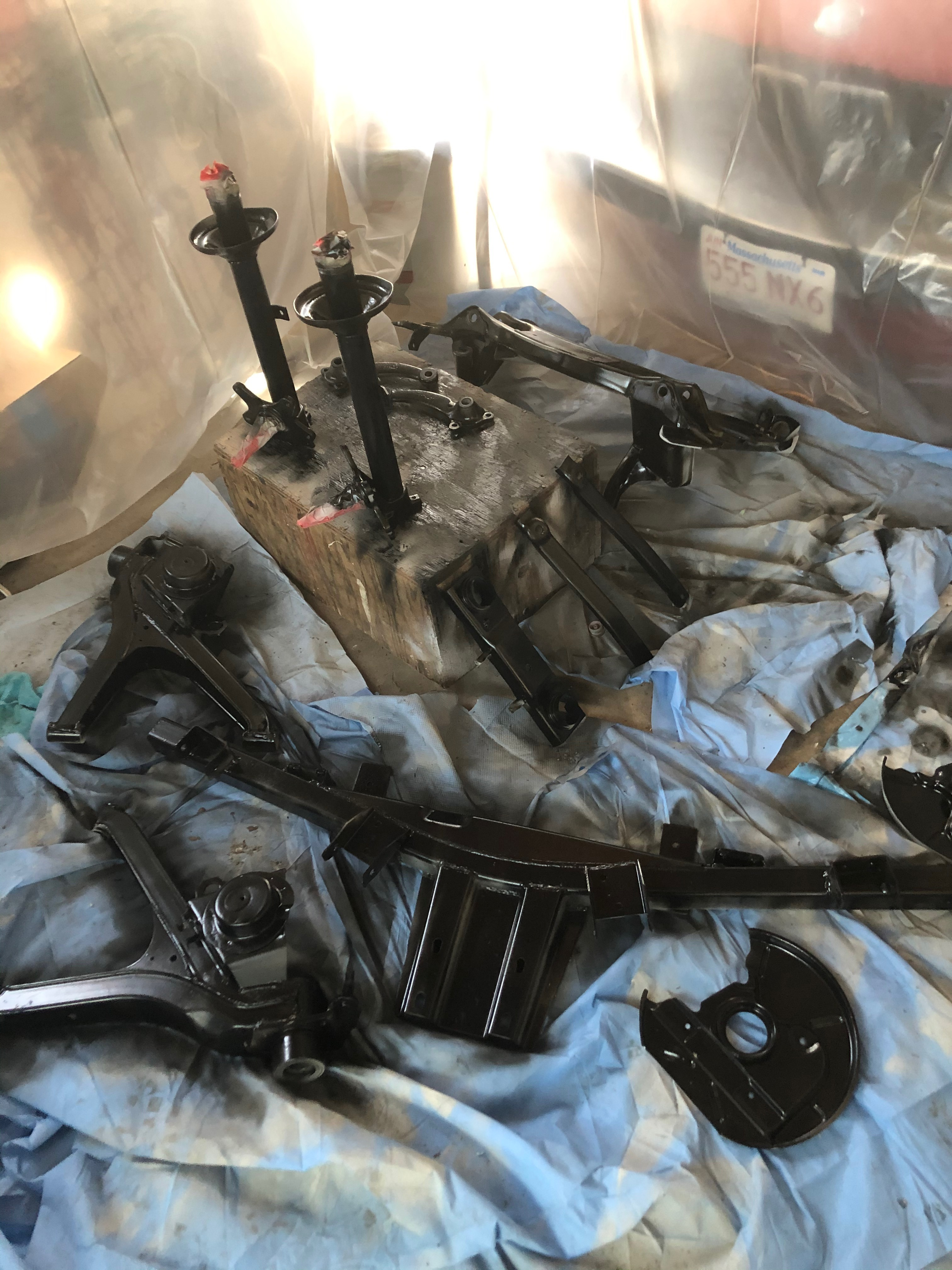 Subframe and Suspension paint DIY
