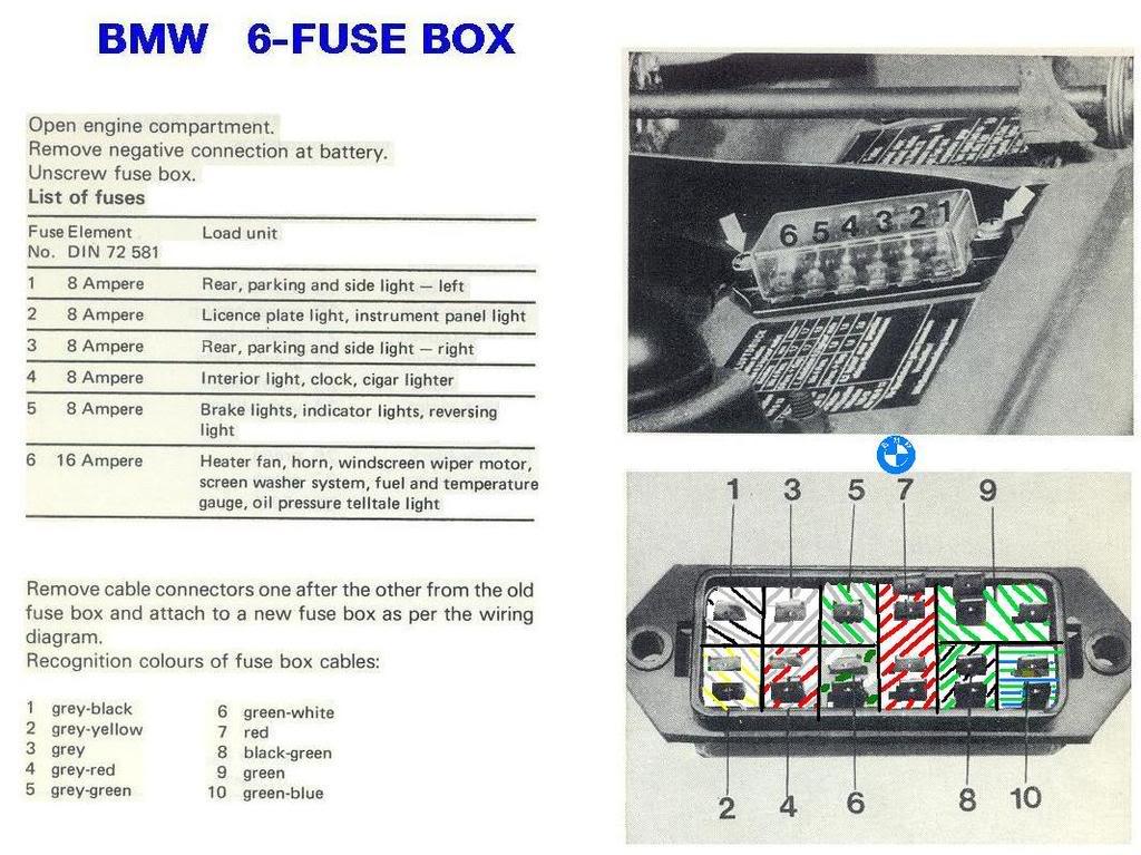 wtb 6volt fuse box - bmw 2002 and neue klasse parts wanted - bmw 2002 faq  bmw 2002 faq